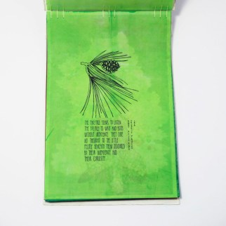 Fifty Trees artist book by Emily Longbrake 05