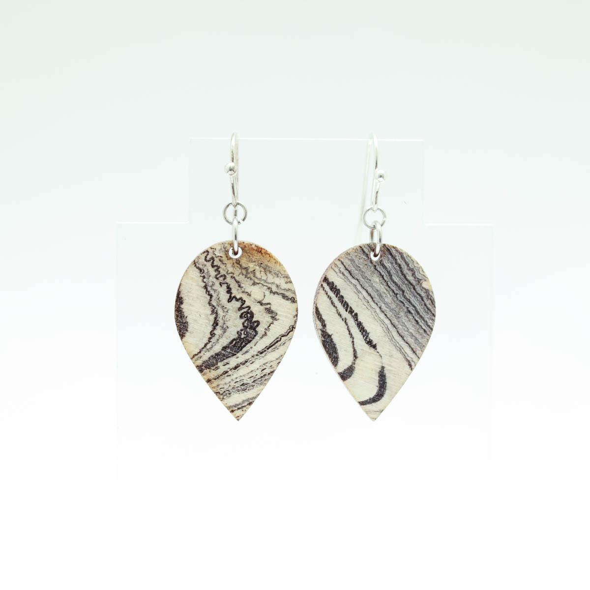 Marbled Leaflet Earrings