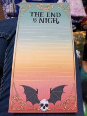 The End is Nigh List Pad designed by Fable & Black
