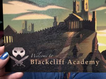Blackcliff Academy Wooden Postcard designed by @pinapali