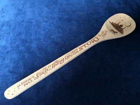 Bookish Wodden Spoon created by KDP Letters
