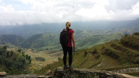 Admiring the view, just outside of Sapa.