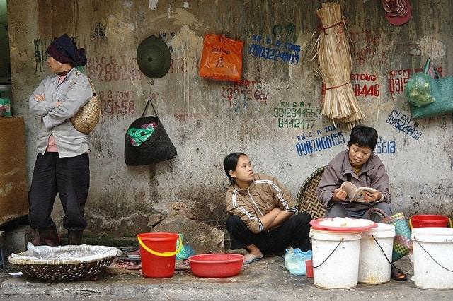 Street Scene in Hanoi's Old Quarter. Image by Charles Roffey.