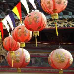 Lanterns at Sa Dec Chinese Temple