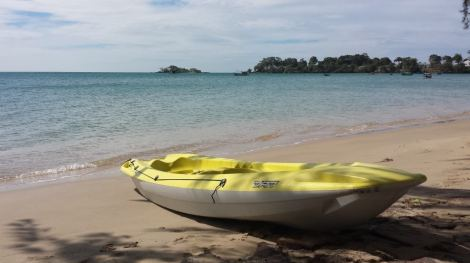 Kayak at Vung Bau Beach in Phu Quoc