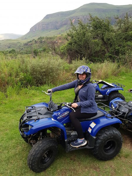 Me quad biking in South Africa