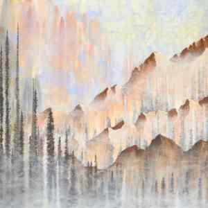 landscape art, nature art, mountain art