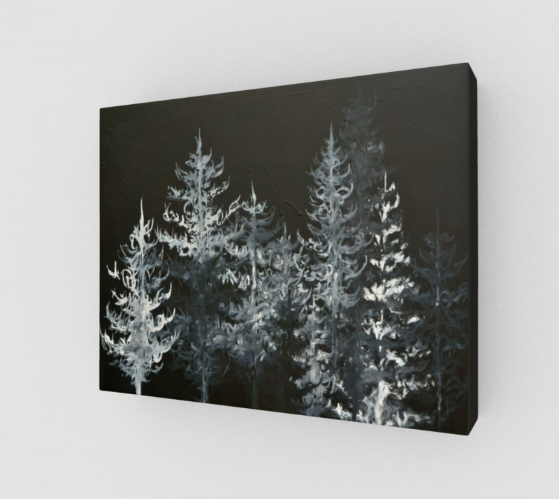 black and white art, tree art, forest art print