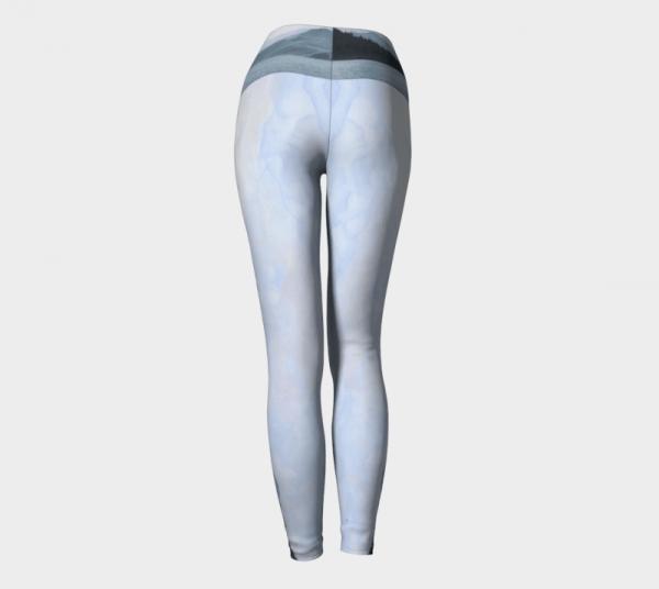 Blue leggings, art leggings, printed leggings