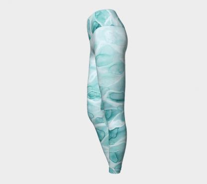 Watercolor Leggings, Yoga Leggings, Dance Leggings