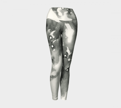 Grey Leggings, Watercolor Leggings, Sport Leggings