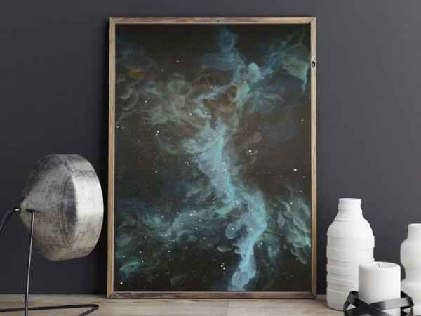 nebula art, galaxy art, space art
