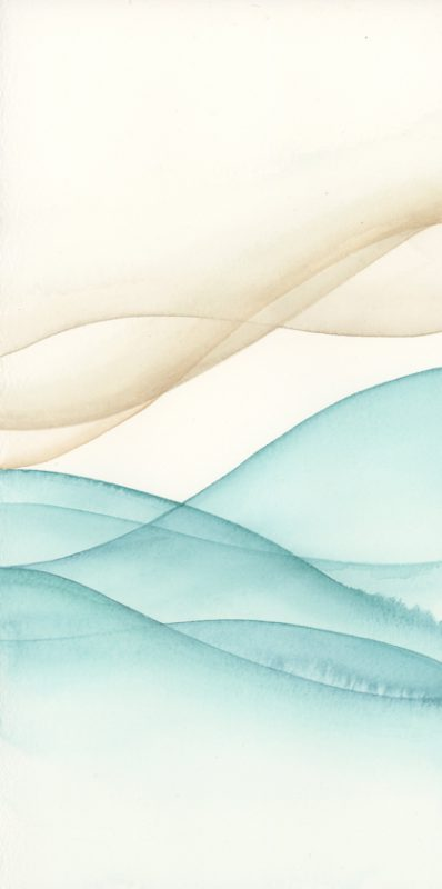 Watercolor beach art, abstract watercolor art, beach art