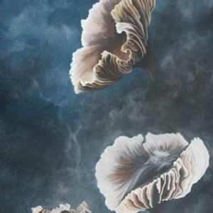 Mushroom art, mushroom painting, nature artist