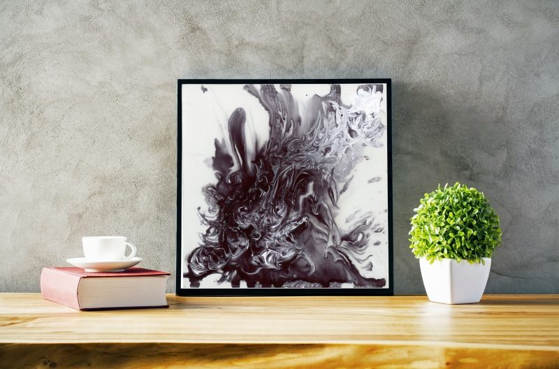 black and white art, abstract art, modern abstract art