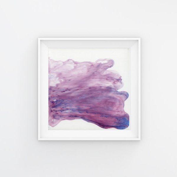 abstract art, purple abstract art, square art print