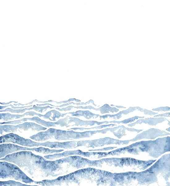 simple art, watercolor art, mountain art