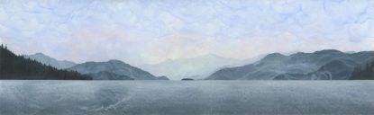 nature art, mountain art, panoramic painting