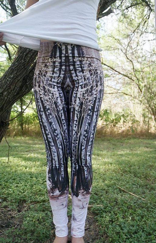 Tree leggings, shape leggings, nature leggings