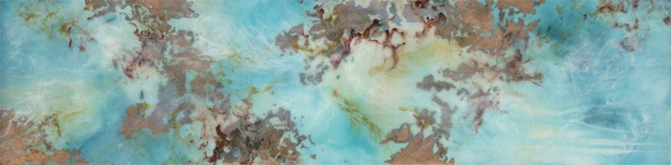 abstract art, metallic art, copper art, watercolor painting