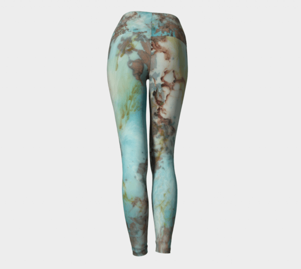 blue leggings, abstract leggings, printed leggings, art leggings