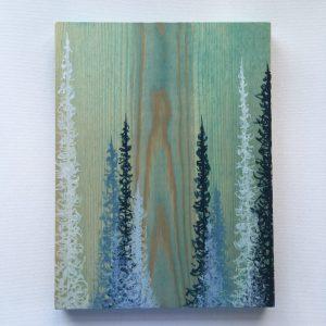 tree art, wood art, nature art, upcycled art, forest art, modern landscape art