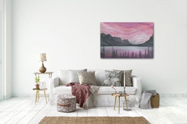 nature art, wall art, glacier park, landscape painting