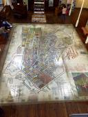 This map in the District Six Museum shows where people lived before being forced out by apartheid policies.