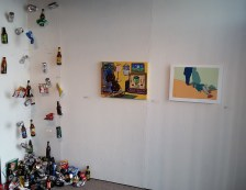 """""""SUPERBOWL CONSUMES AMERICA"""" Installed at Works Gallery in San Jose"""