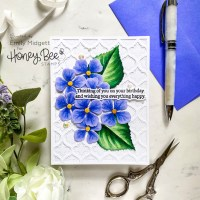 Pops of Color with Lovely Layers: Hydrangea from Honey Bee Stamps!