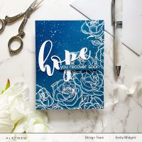 Altenew Paint-A-Flower: Rosa Floribunda Outline Stamp Set Release Blog Hop + Giveaway ($200 in Total Prizes)