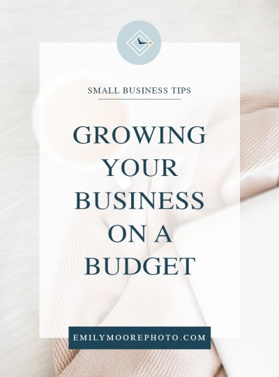 Growing Your Business on a Budget | Emily Moore | Private Photo Editor
