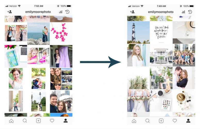 Instagram Difference with Planoly | Emily Moore Boutique Photo Editing