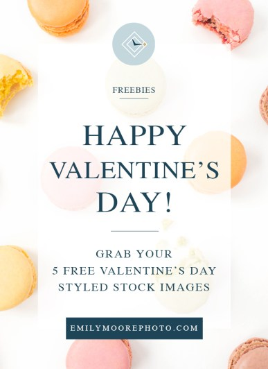 5 Free Valentine's Day Styled Stock Images | Emily Moore Boutique Photo Editing | Private Photo Editor