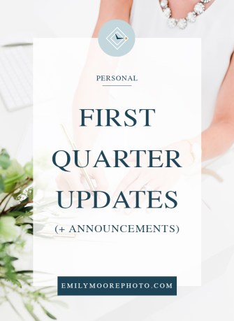 Quarter One Updates (& Announcements)   Emily Moore   Private Photo Editor