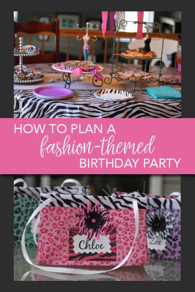 How to plan a fashion-themed birthday party