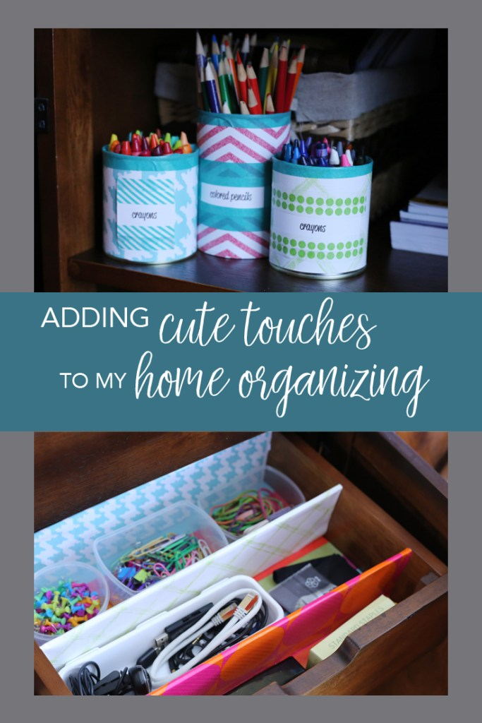 Adding cute touches to your home organization projects