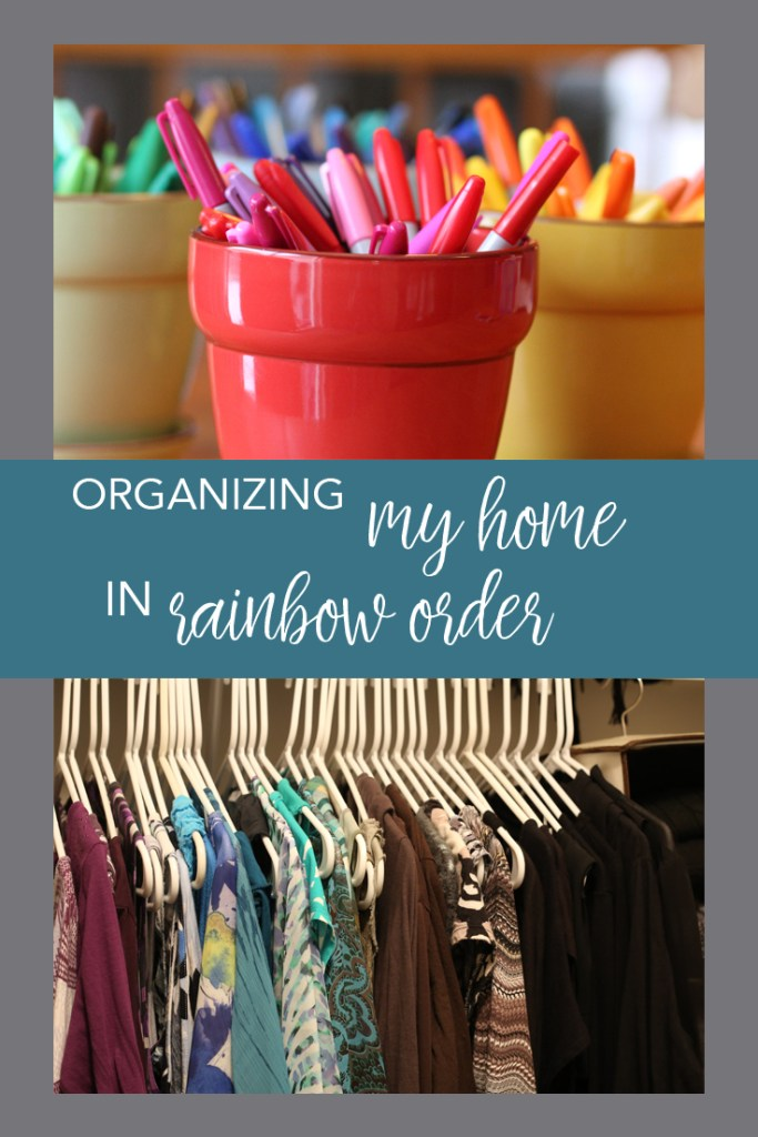 Organizing your home in rainbow order