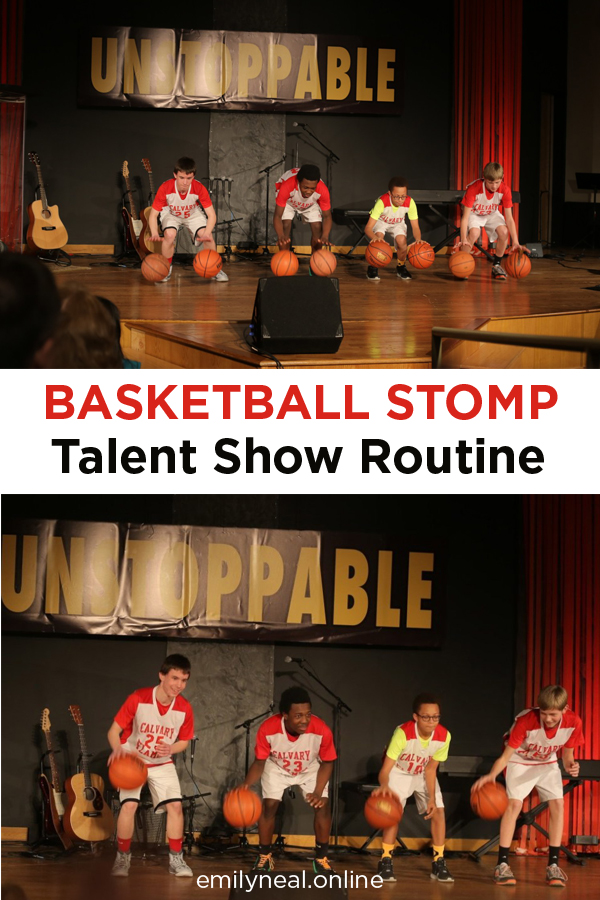 Basketball stomp routine for 8th grade boys at talent show