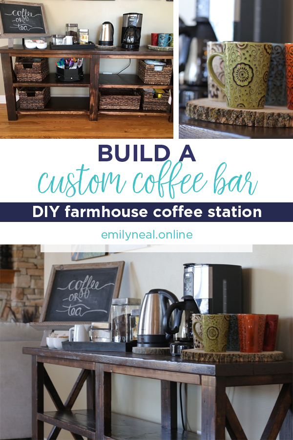 DIY farmhouse style coffee bar