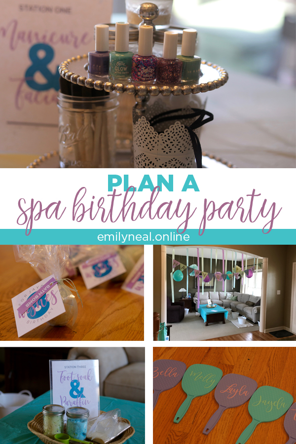 Plan a spa birthday party for an 8-year-old