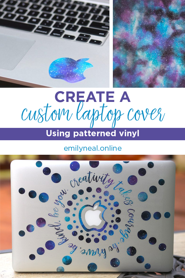 Create a custom laptop cover using patterned vinyl