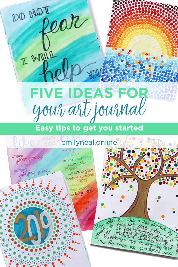 Five ideas for your art journal