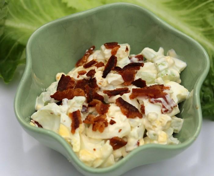 Deviled egg salad wrap