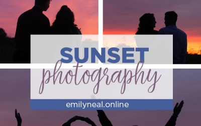 Sunset photography ideas for homecoming or prom