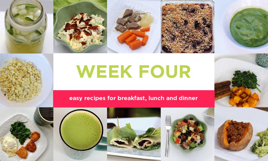 Four-week Paleo meal plan: Week Four