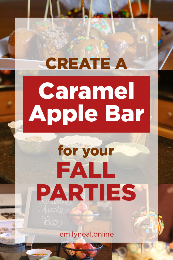Create a caramel apple bar for your fall party