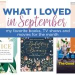 What I loved in September
