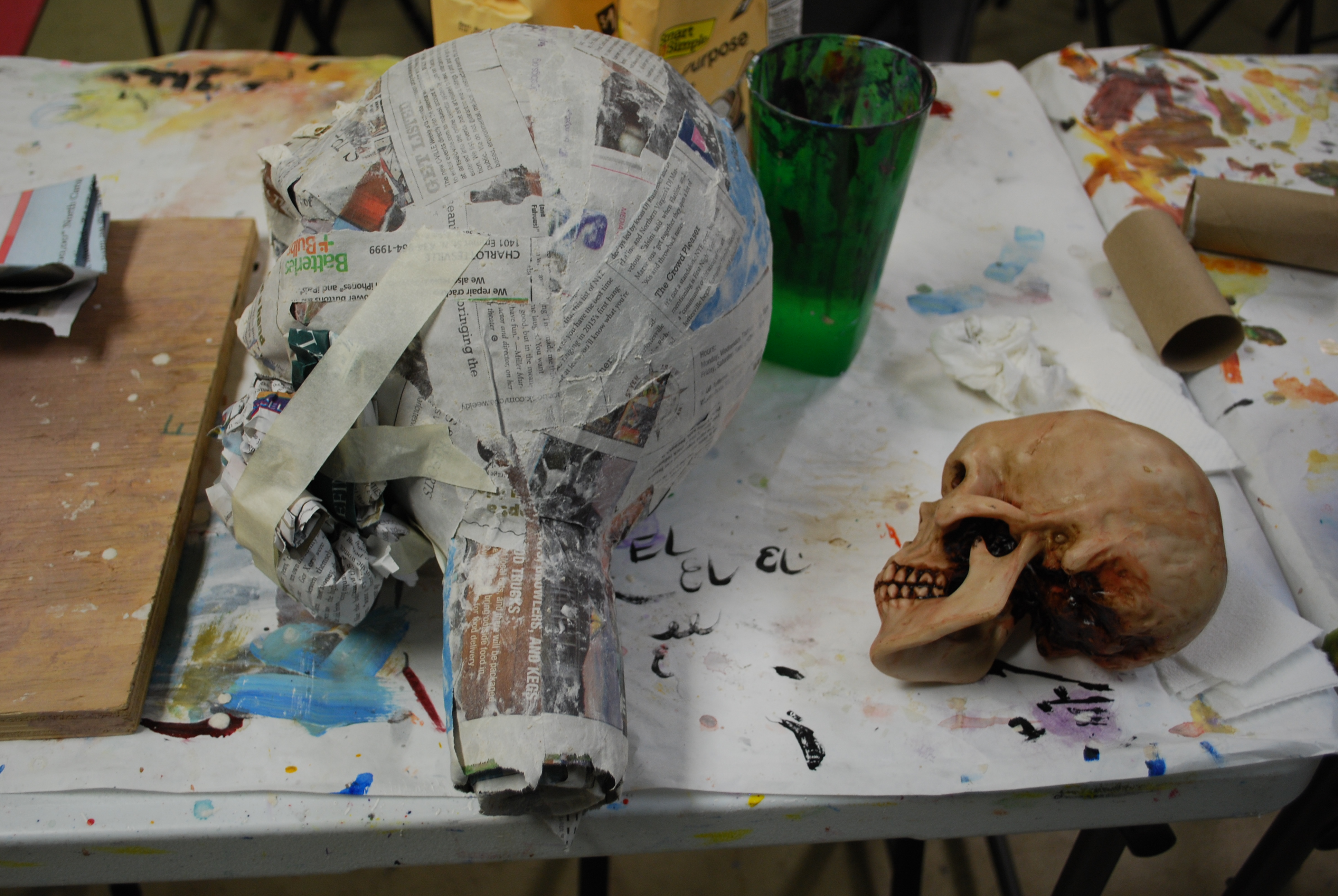 Paper Mache Scarecrow Head
