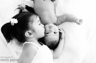 San Francisco sibling portraits, black and white child photography